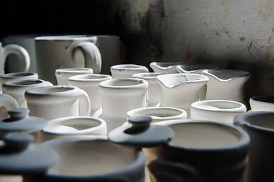 Photograph - Sunlight On White Jugs And Vases by Joseph Amaral