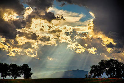 Bo Insogna Photograph - Sunlight Raining Down From The Heavens by James BO  Insogna