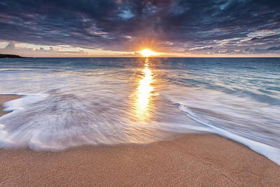 Sunlight Reflected On The Ocean Art Print by Scott Mead