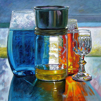 Painting - Sunlight Shining Through Glass by John Lautermilch