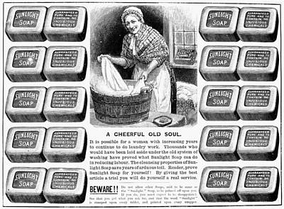 Housewife Painting - Sunlight Soap Ad, 1891 by Granger