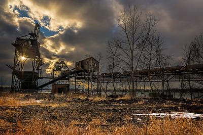Photograph - Sunlight Through A Coal Loader by Chris Bordeleau