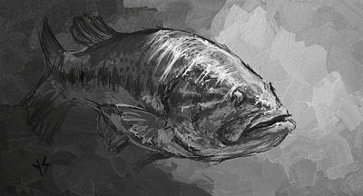 Largemouth Digital Art - Sunlight  by Yusniel Santos