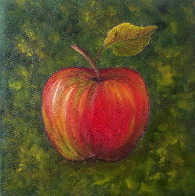Painting - Sunlit Apple Sold by Susan Dehlinger