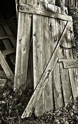 Sunlit Barn Door Art Print
