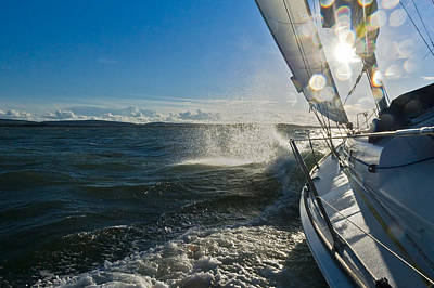 Photograph - Sunlit Bow Spray by Gary Eason