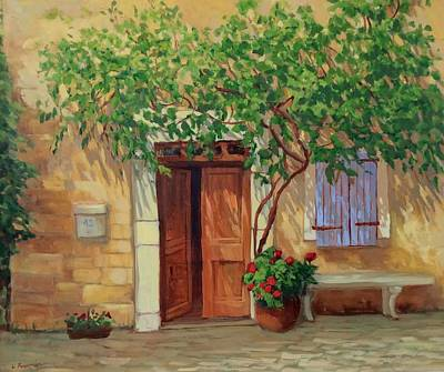 Painting - Sunlit Doorway by Liliane Fournier