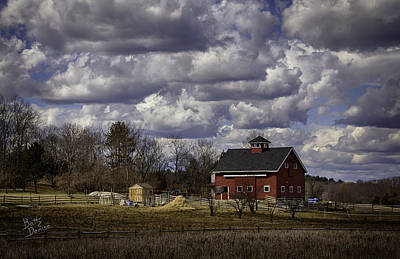 Art Print featuring the photograph Sunlit Farm by Betty Denise