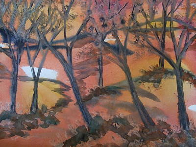 Sunlit Forest Art Print