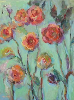 Art Print featuring the painting Sunlit Garden by Mary Wolf