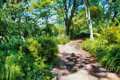 Digital Art - Sunlit Garden Path by Fran Woods