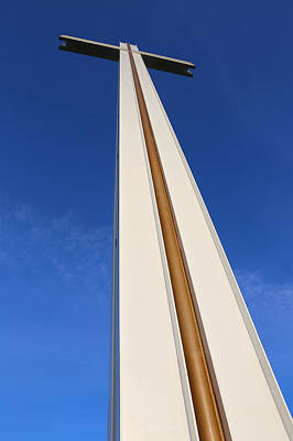 Photograph - Sunlit Papal Cross In Dublin by Semmick Photo