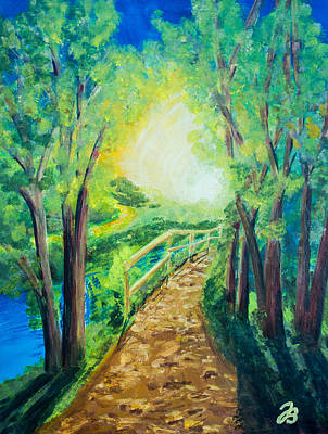 Painting - Sunlit Path by Jutta B