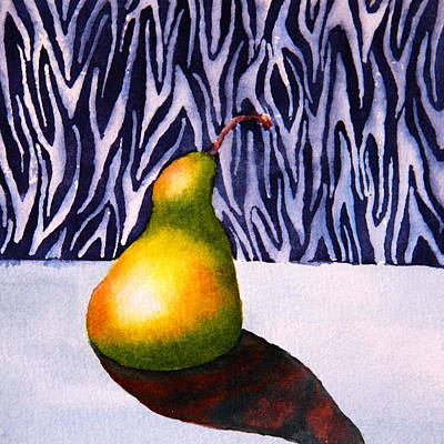 Stillife Painting - Sunlit Pear by Eva Nichols