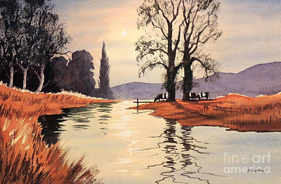 Brown Trout Painting - Sunlit River - Chess At Latimer by Bill Holkham