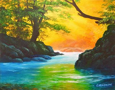 Painting - Sunlit Stream by Francine Henderson