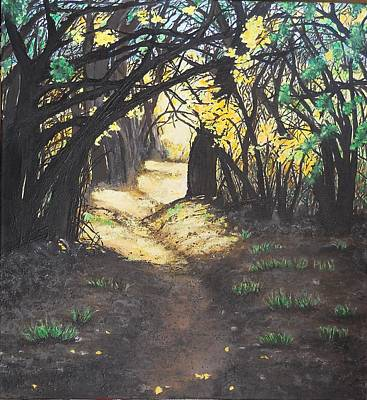 Painting - Sunlit Trail by Susan M Woods