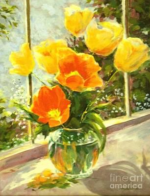Sunlit Tulips Original