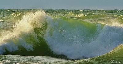 Photograph - Sunlit Wave by Burland McCormick