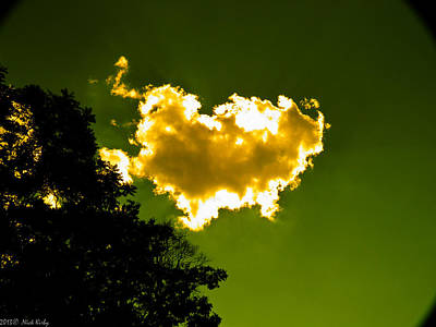 Photograph - Sunlit Yellow Cloud by Nick Kirby