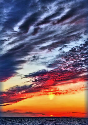 Photograph - Sunnset Over The Bay by Carolyn Derstine