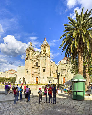 Photograph - Sunny Afternoon At The Church Of Santo Domingo In Oaxaca by Mark E Tisdale