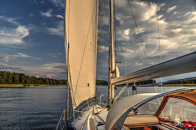 Sunny Afternoon Inland Sailing In Poland Art Print