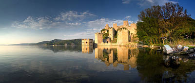 Sunny Afternoon On Golubac Fortress Print by Davorin Mance