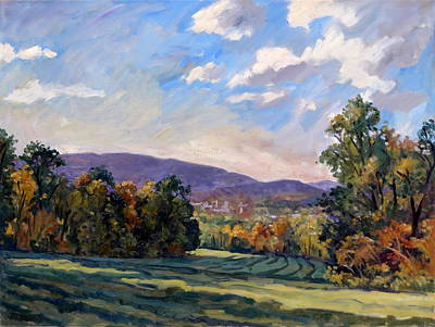 Berkshires Painting - Sunny Autumn Berkshires by Thor Wickstrom