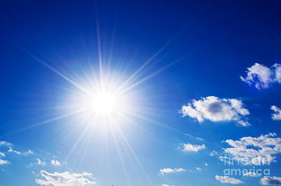Cumulus Photograph - Sunny Blue Sky by Michal Bednarek