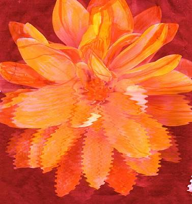 Sunny Burst Of Color Floral Art Print by Anne-Elizabeth Whiteway