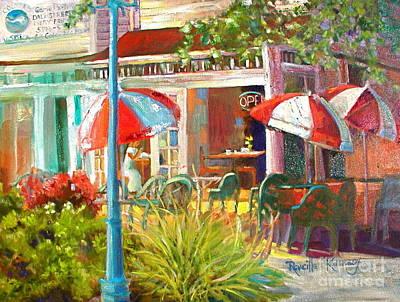 Sunny Cafe Art Print