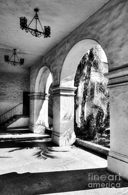 Photograph - Sunny California Arches Bw by Mel Steinhauer