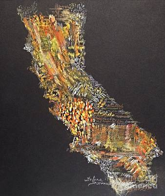 Mixed Media - Sunny California by Delona Seserman