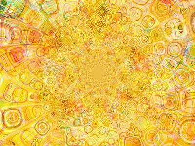 Inversion Mixed Media - Sunny Center by Dana Hermanova