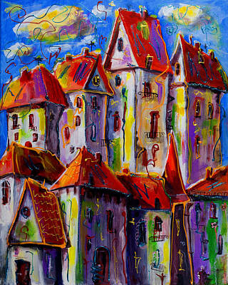 Sunny City Art Print