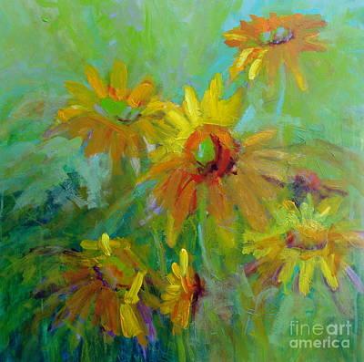 Sunny Daisies Art Print by Virginia Dauth