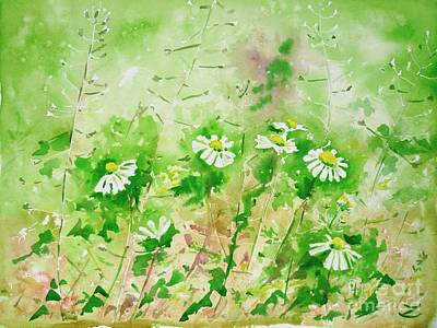 Selecting Painting - Sunny Daisies by Zaira Dzhaubaeva