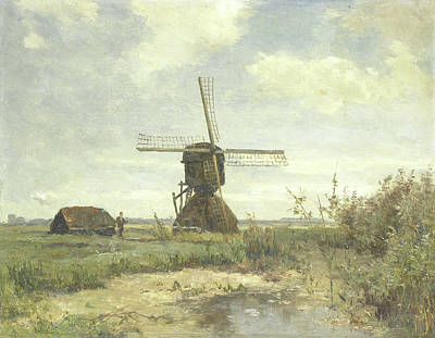 Sunny Day Drawing - Sunny Day, A Mill On A Watercourse, Paul Joseph Constantin by Litz Collection