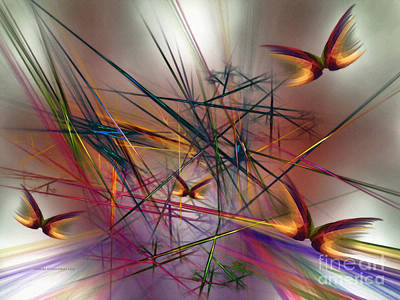 Lyrical Digital Art - Sunny Day-abstract Art by Karin Kuhlmann