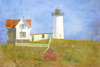 Cape Neddick Lighthouse Photograph - Sunny Day At Nubble Lighthouse by Carol Leigh