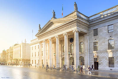 Photograph - Sunny Day At The O'connell Street Post Office In Dublin by Mark E Tisdale