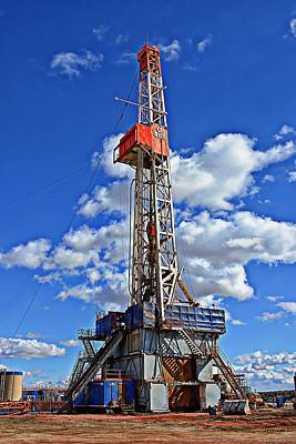 North Dakota Photograph - Sunny Day Oilrig by Miss Judith