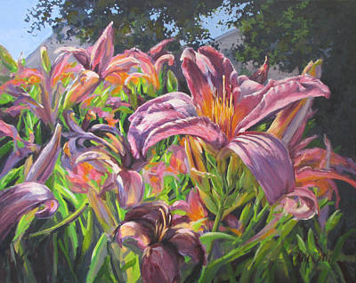 Painting - Sunny Daylilly by Karen Ilari