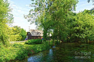 Digital Art - Sunny English Village by Andrew Middleton