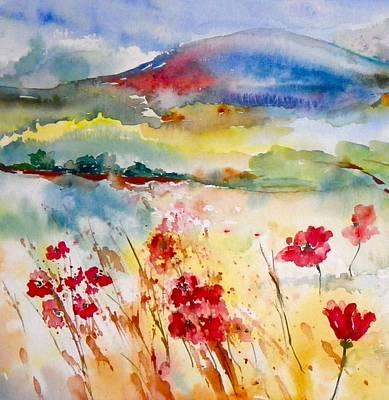 Sunny Field Art Print by Anna Ruzsan