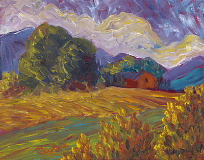Painting - Sunny Fields by Carolene Of Taos