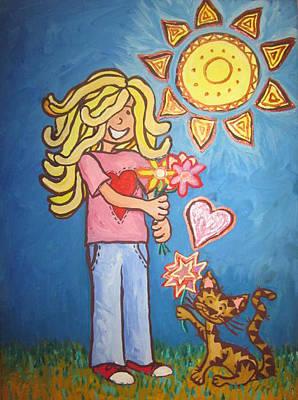 Sunny Girl Art Print by Cherie Sexsmith