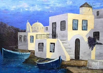 Painting - Sunny Greece by AmaS Art