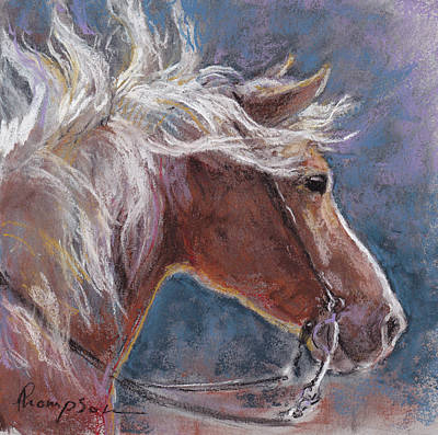 Sunny Haflinger Print by Tracie Thompson